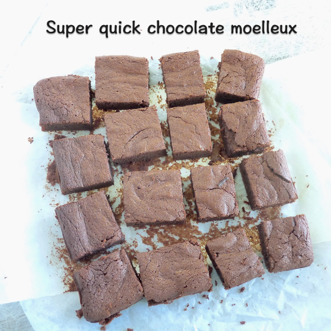 super quick chocolate moelleux